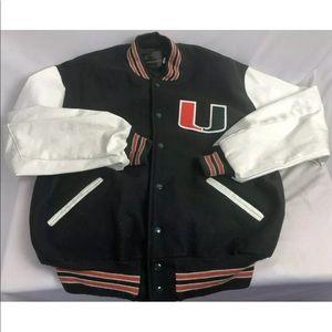 Miami Hurricanes Men's XL Varsity Wool jacket